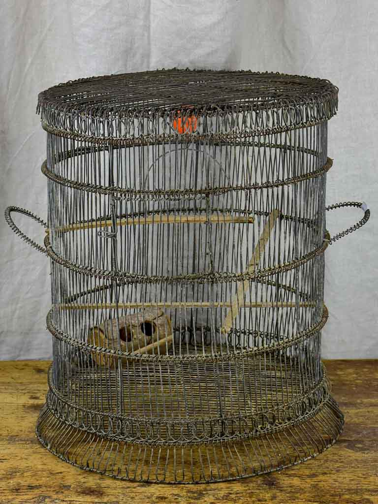 Antique French round birdcage