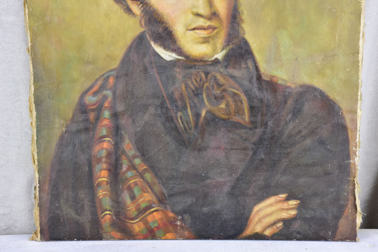 "Early 20th Century portrait of Alexander Pushkin - copy of Orest Kiprensky portrait from 1827 23¾""x 27½"""