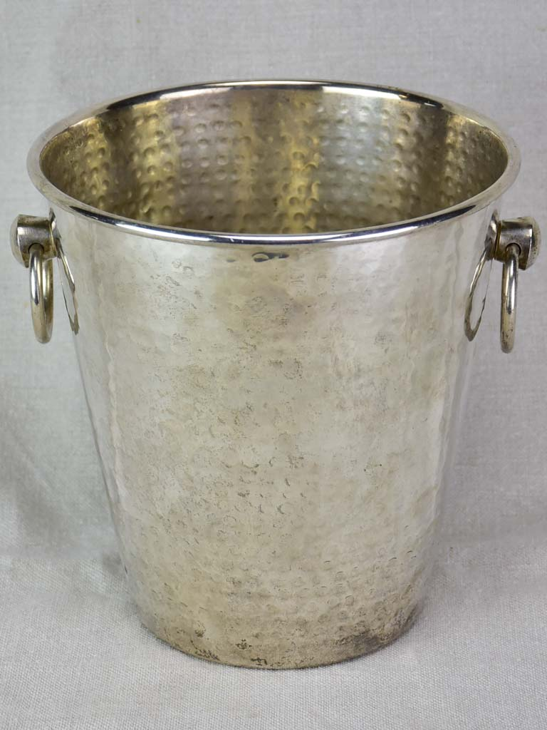 RESERVED FAB Vintage hammered metal ice bucket