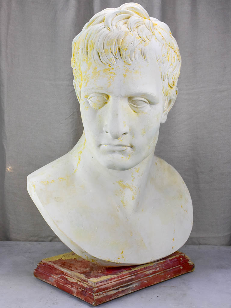 Very large French plaster bust - Augustus: first emperor of the Roman Empire 31½""