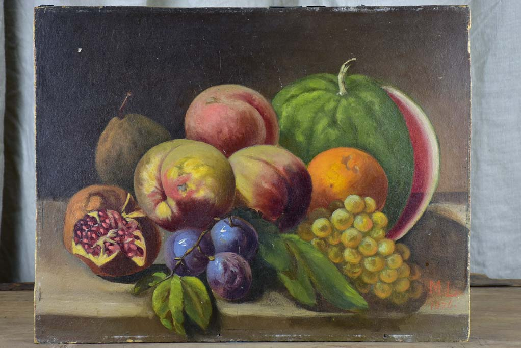 Antique French still life painting