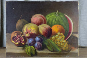 "Antique French still life painting 17 ¾"" x 13 ¾"""