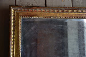 Late 18th century Louis XVI mirror with gilt wood frame