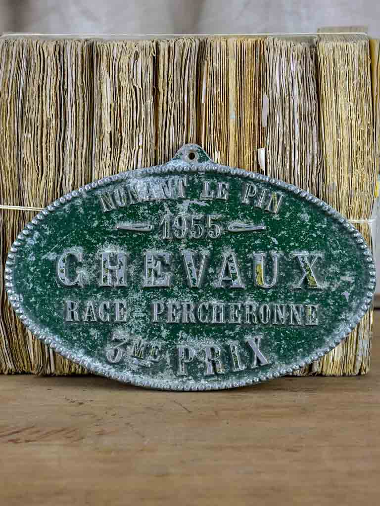 1955 French agricultural plaque - horse prize