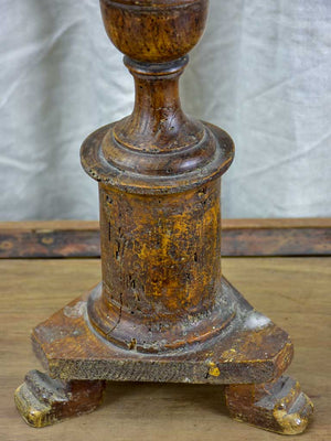 Large antique French church candlestick