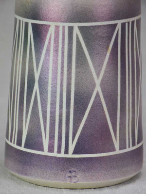 Vintage vase - grey, purple and pink 10¾""