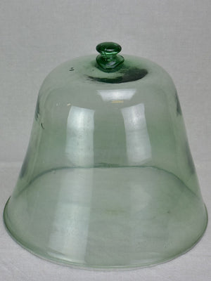 Antique French blown glass melon dome 14¼""