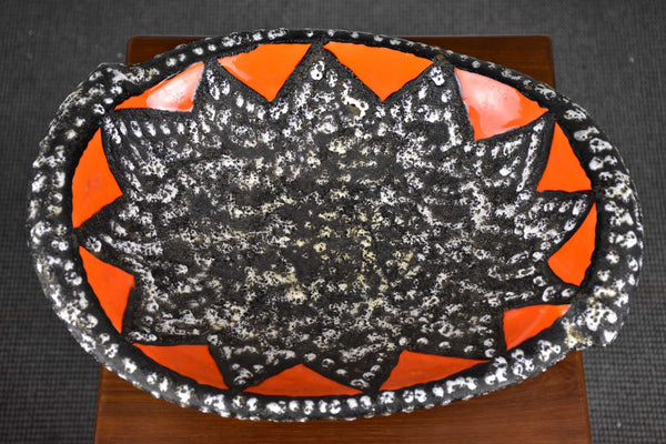 Vintage ceramic fruit bowl from Vallauris, France