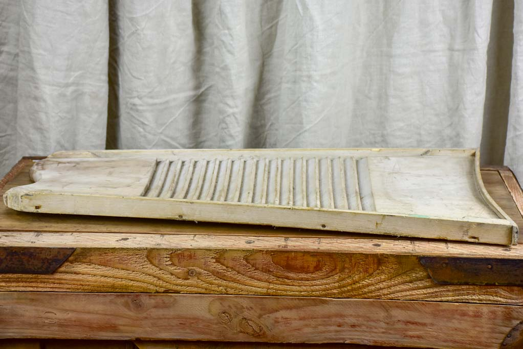 Antique french wooden washboard