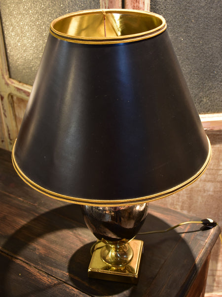 Le Dauphin lamp with metallic porcelain base and original lampshade