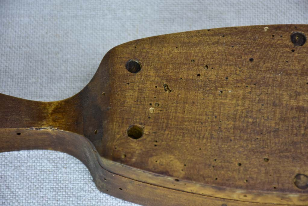 RESERVED JS Antique French wooden butter mold