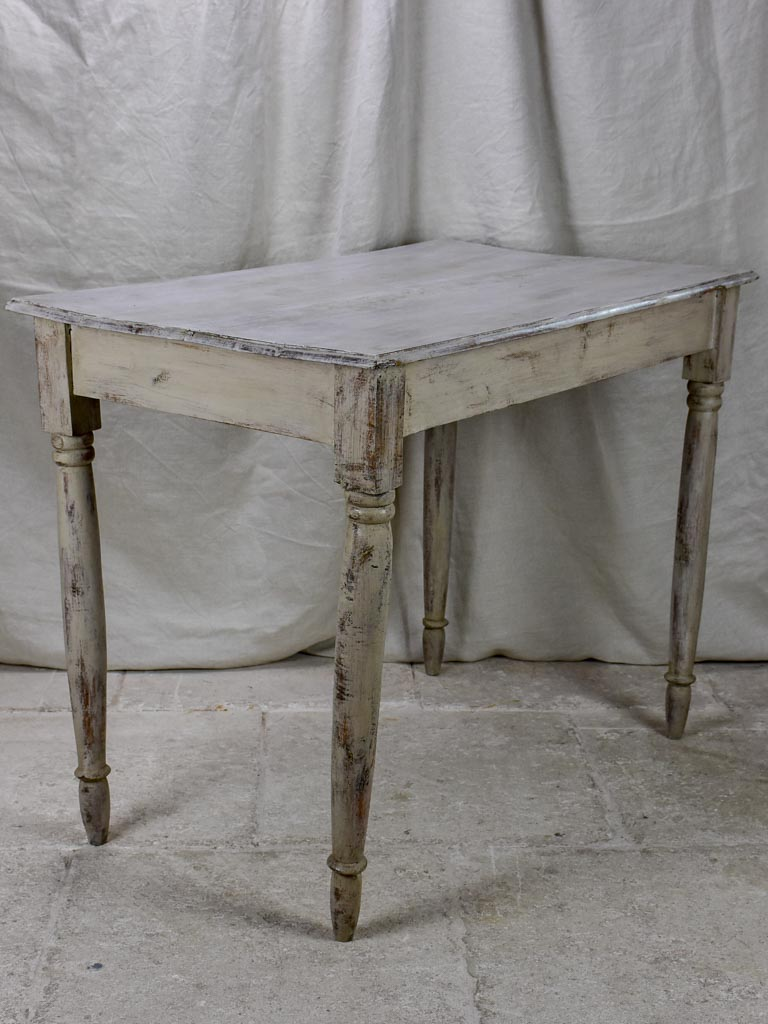 Antique French bistro table with grey patina