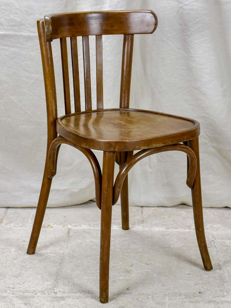 Set of 12 mid century French bistro chairs