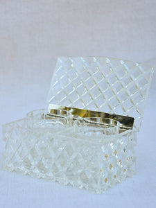 Vintage French jewelry box with two compartments - plexiglass