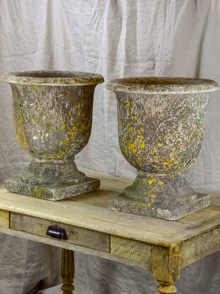 Pair of French garden urns - 1950's