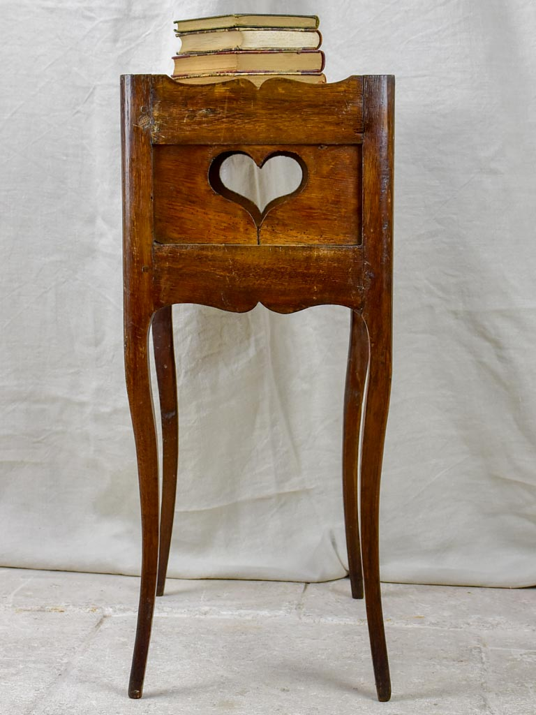 Antique French Louis XV oak bedside table
