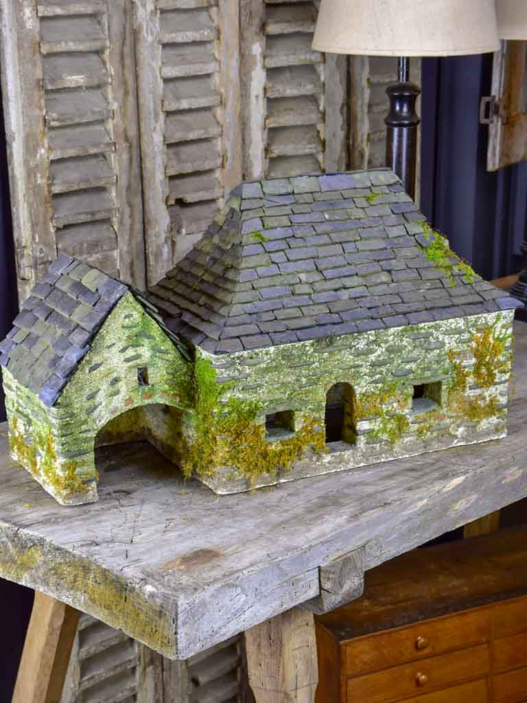 Miniature stone grange - French 1950's