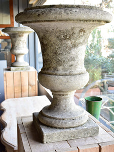 Pair of antique Italian stone garden urns