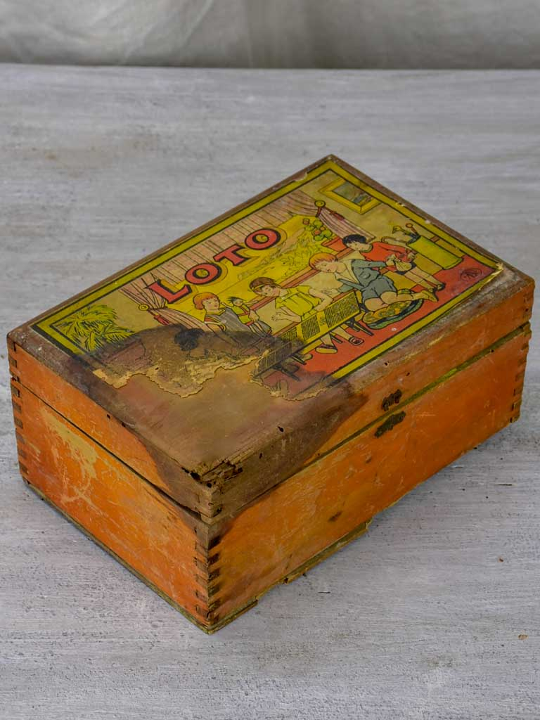 Antique French children's game - Loto