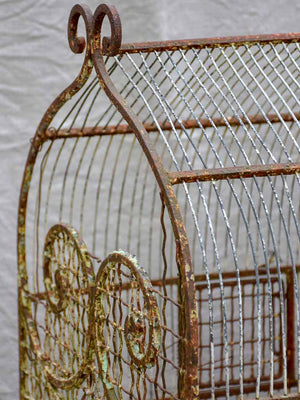 Very large antique French birdcage