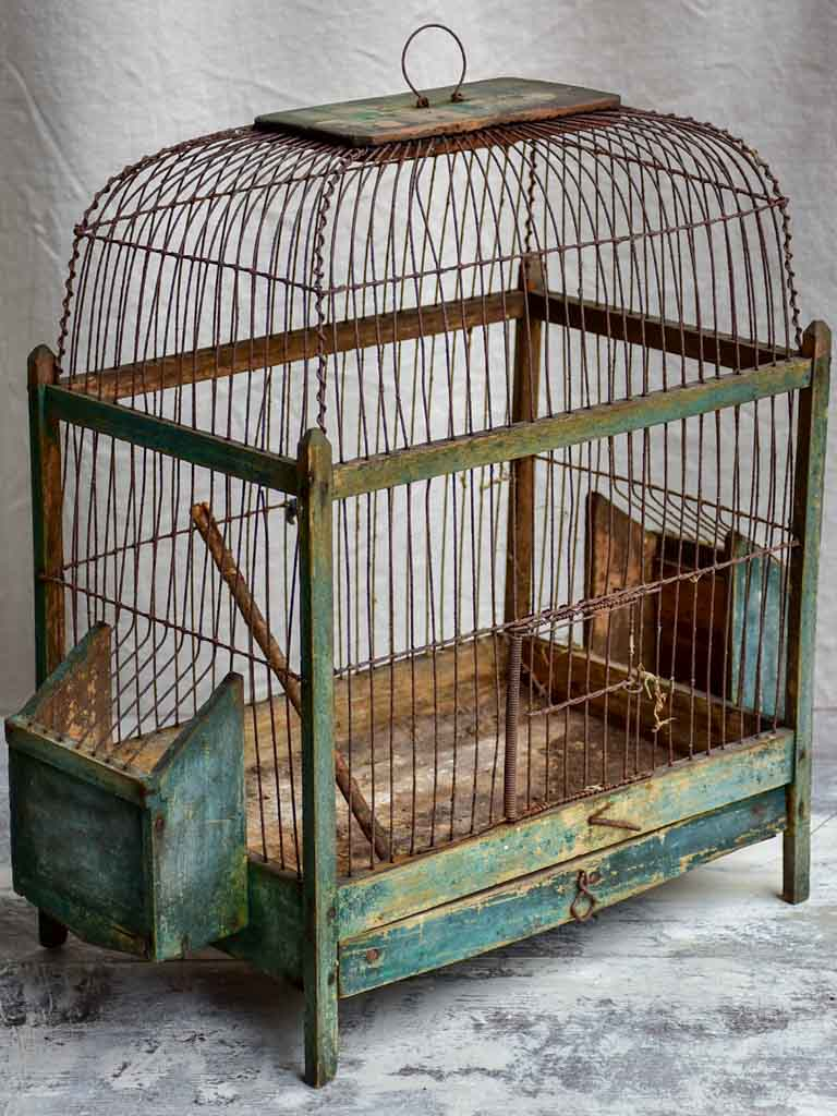 Small antique French birdcage
