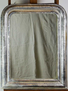 "Antique French Louis Philippe mirror with silver frame 25½"" x 32¾"""