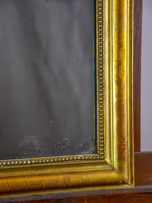 "RESERVED MA Small antique French Louis Philippe mirror with gilded frame 19¼"" x 24"""