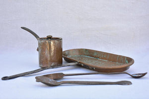 Collection of three 18th century French copper cooking tools