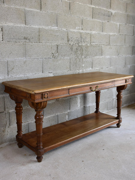 Small antique French drapery table