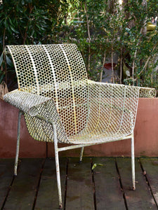 Five garden armchairs attributed to Malaval