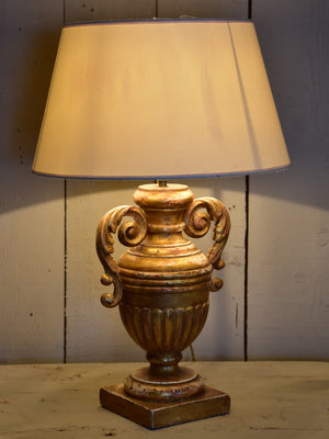 19th century French giltwood lamp