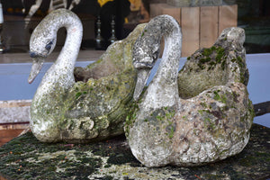 Pair of French garden planters in the shape of swans