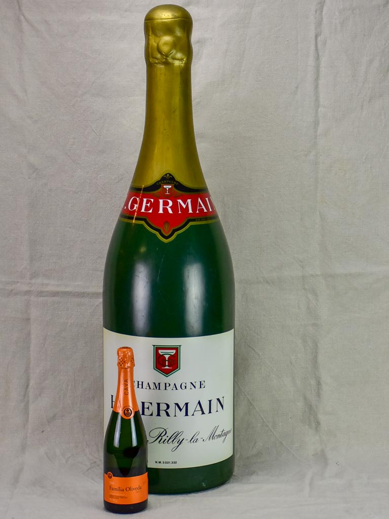 Very large mid century advertising champagne bottle - H. Germain 38½""