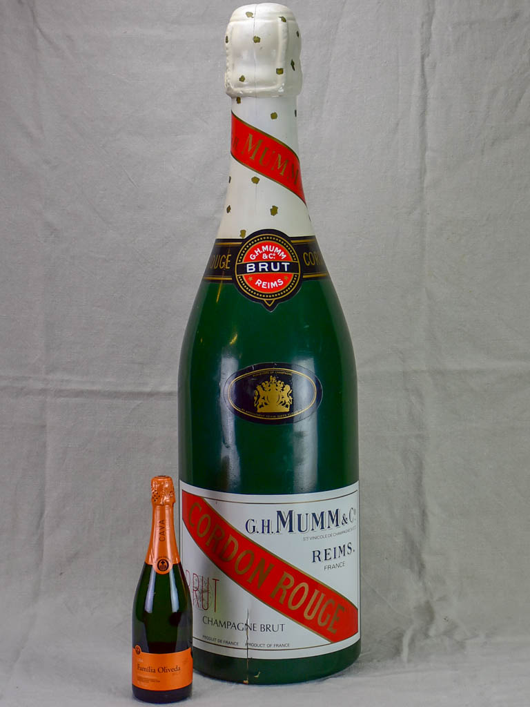 Very large mid century advertising champagne bottle - Mumm 38½""