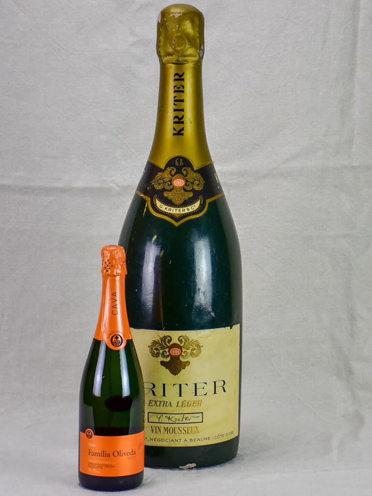 1950's faux champagne advertisement bottle - Kritter 25½""