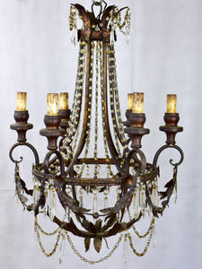 Vintage Italian Chandelier with six lights
