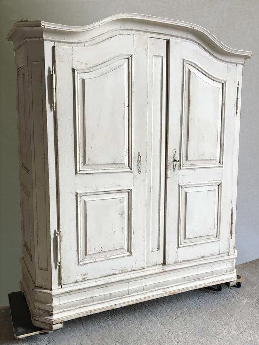 "Antique French walnut Armoire from Alsace with original hardware 83½"" x 67"""