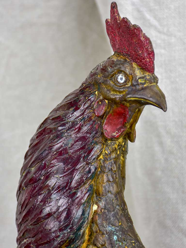 Antique French rooster - bronze