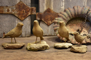 Four French artisan birds
