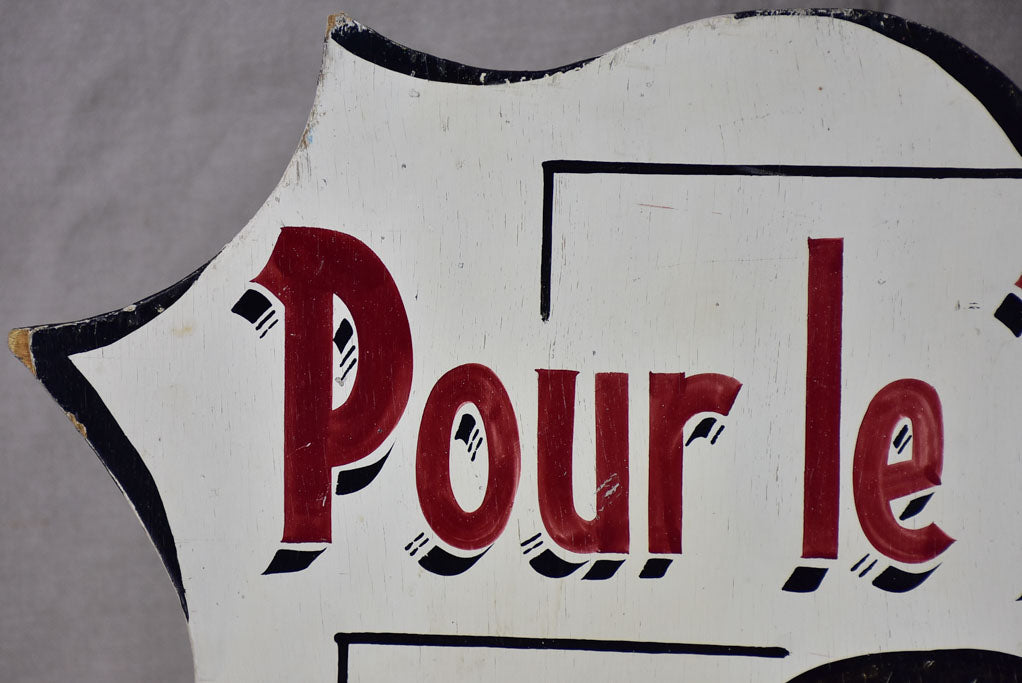 Large mid-century French roast chicken sign