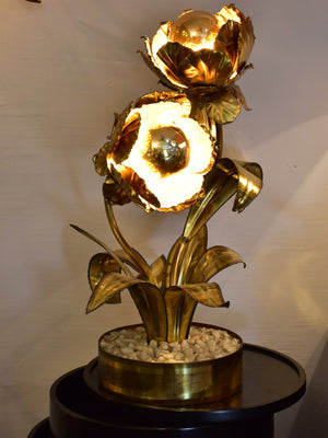 Maison Jansen gold flower lamp