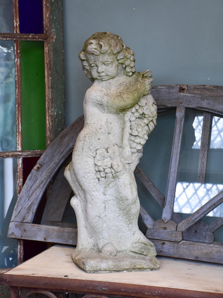 Antique French garden statue of Bacchus