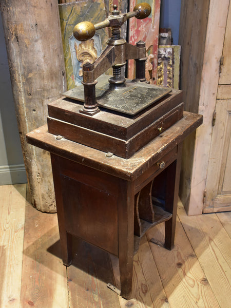 Antique French book press