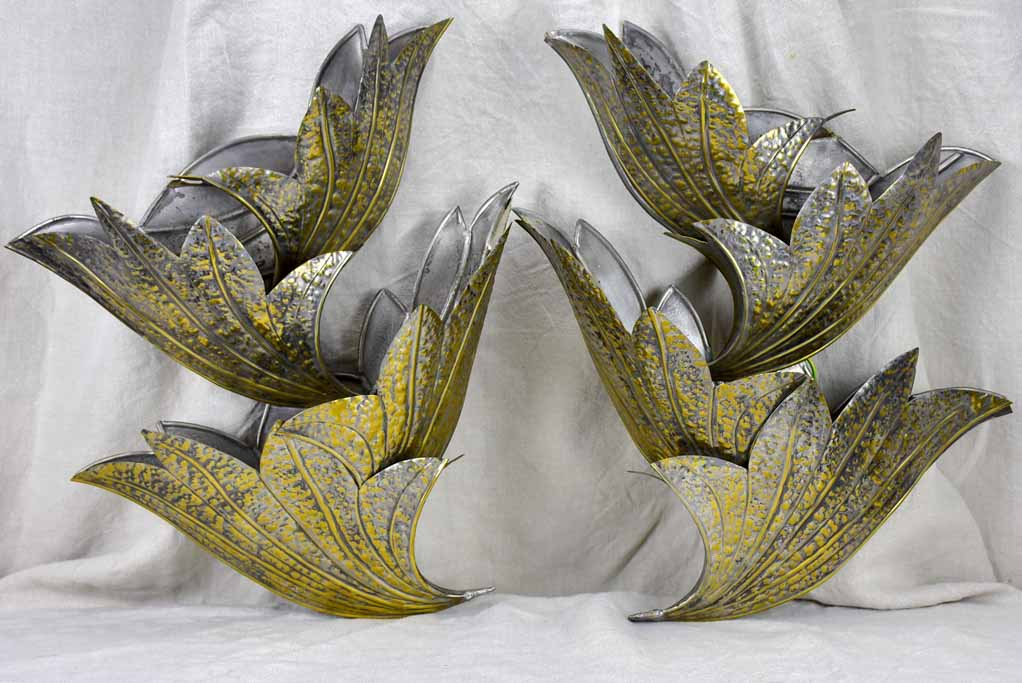 Pair of 1970's wall appliques in the style of Henri Fernandez