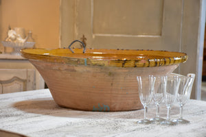 Giant Provençal ceramic bowl - early 20th century