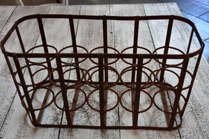Antique French bottle carrier – 10 bottles