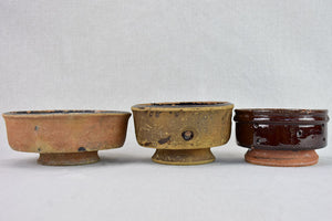 Collection of 3 late 19th Century French cheese molds