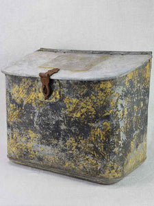 "Rare 19th Century French zinc fishing box from Normandy 15¼"" x 19¼"""