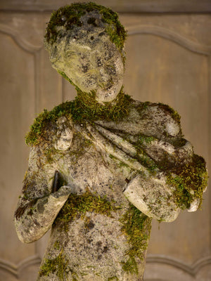 Antique French garden statue of a faun