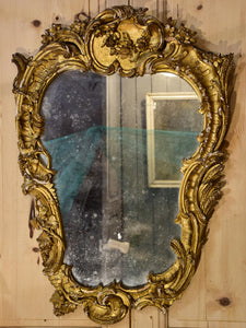 Late 18th century gilded Italian mirror